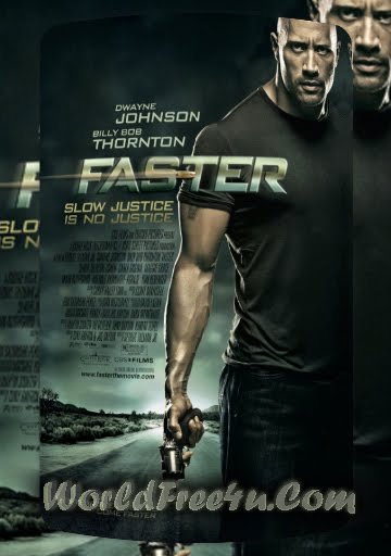 Poster Of Faster (2010) In Hindi English Dual Audio 300MB Compressed Small Size Pc Movie Free Download Only At worldfree4u.com