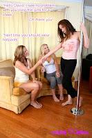 Pole dancing tranny