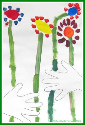 photo of: Kindergarten Picasso Expression for Spring via RainbowsWithinReach