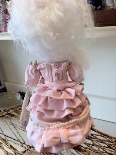 sweet pink gothic lolita art doll OOAK