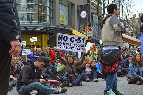 Anti C-51 Protest, March 14, 2015. (Photo by Jeremy  Board)