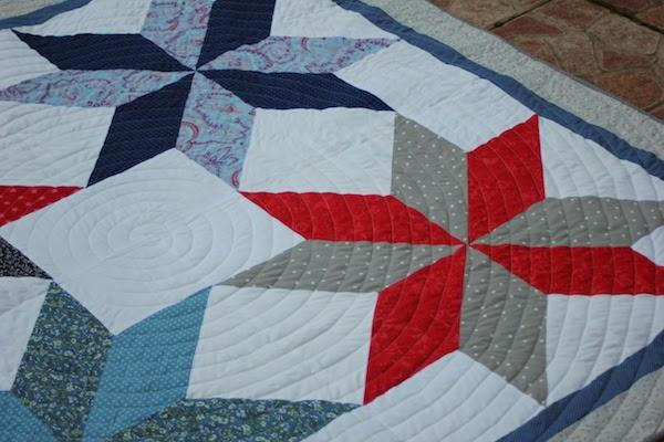 acolchar patchwork de estrellas