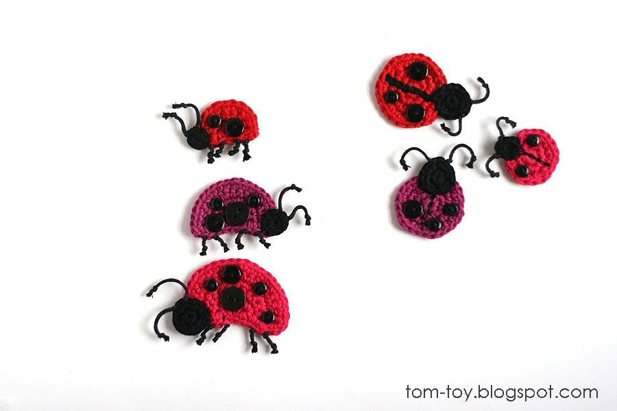 crochet ladybug applique