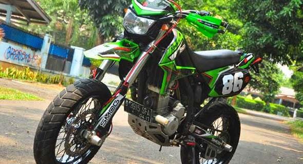 Foto dan Gambar Modifikasi Motor Kawasaki D-Tracker Keren Terbaru
