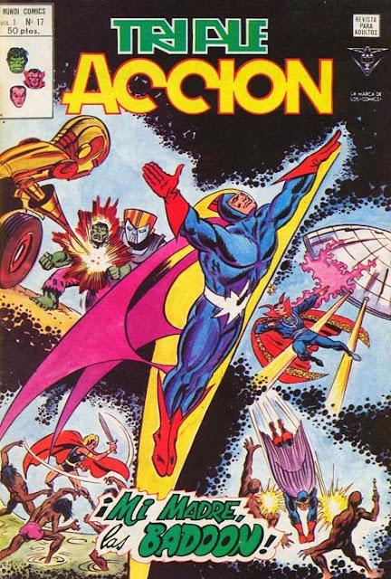 Portada de Triple Acción Volumen 1 Nº 17 Ediciones Vértice