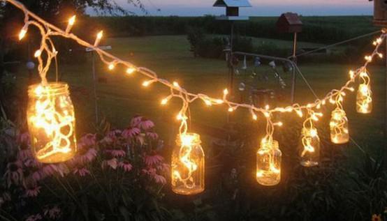 Decorando com luzes - Luces para patios ...