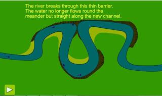 Animasi Oxbow lake dan Meander