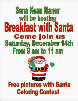 12-14 Breakfast With Santa At Sena Kean Manor