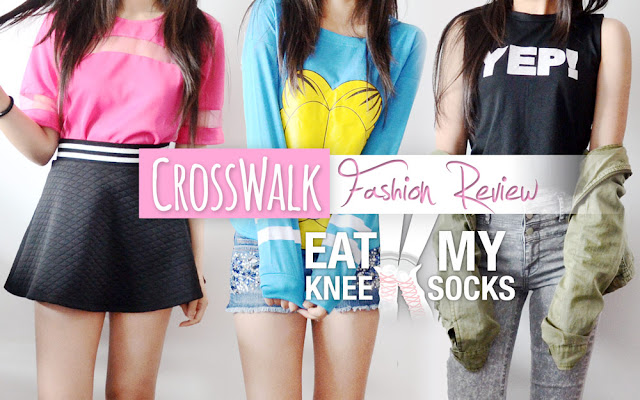 Today I'll be reviewing three tops from CrossWalk, a Canada-based Storenvy shop selling cute and casual Asian-style streetwear. I got a short sleeve pink T-shirt, printed mock-neck tank top, and Garfield sweatshirt, all only costing $15 each. Plus, I've got an exclusive discount code for you all at the end! Details ahead!