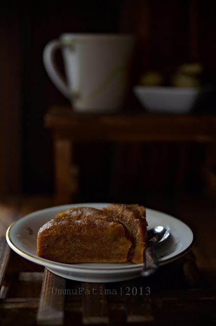 cake kukus ubi karamel