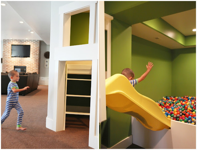 Ball Pit Under Stairs Yellow Banana Slide
