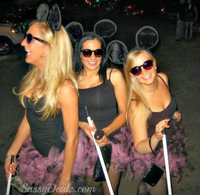diy 3 blind mice women halloween costume