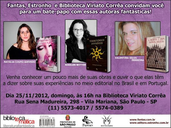 Evento da Estronho e Fantas com três autoras fantásticas em São Paulo