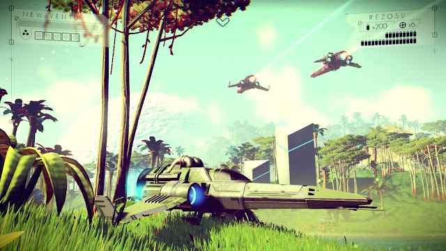 No Man's Sky Preview ship on a planet