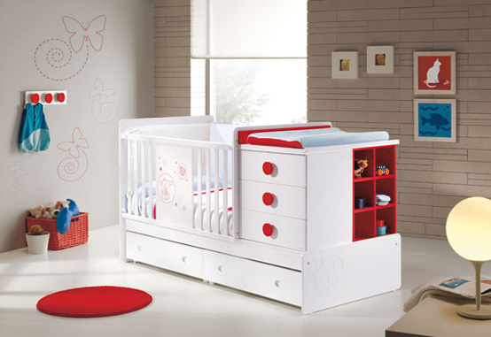 Baby Convertible Crib Nursery Furniture Bed Plans (5 Image)