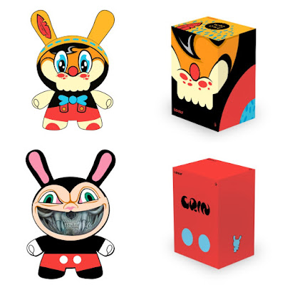 No Strings On Me 8 Inch Dunny by WuzOne & Grin 8 Inch Dunny by Ron English