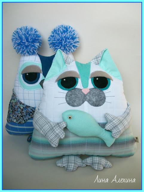 котик, кошка, подушка-игрушка