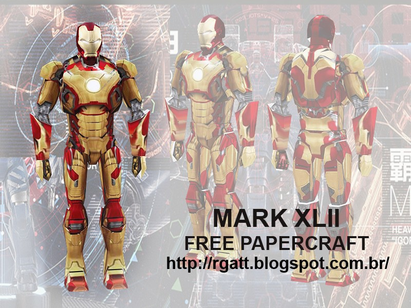 Iron Man 3 Mark XLII Armor Papercraft