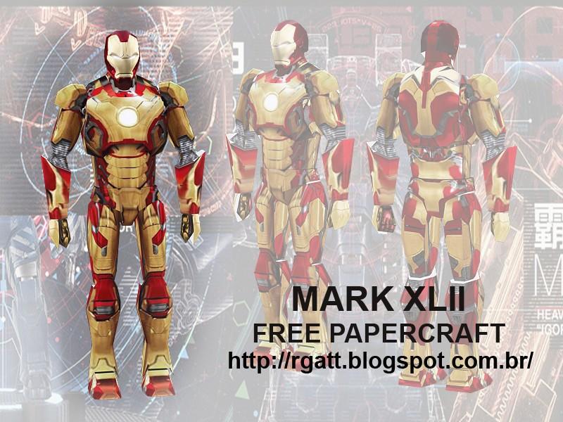 Iron Man 3 Mark XLII Armor Papercraft