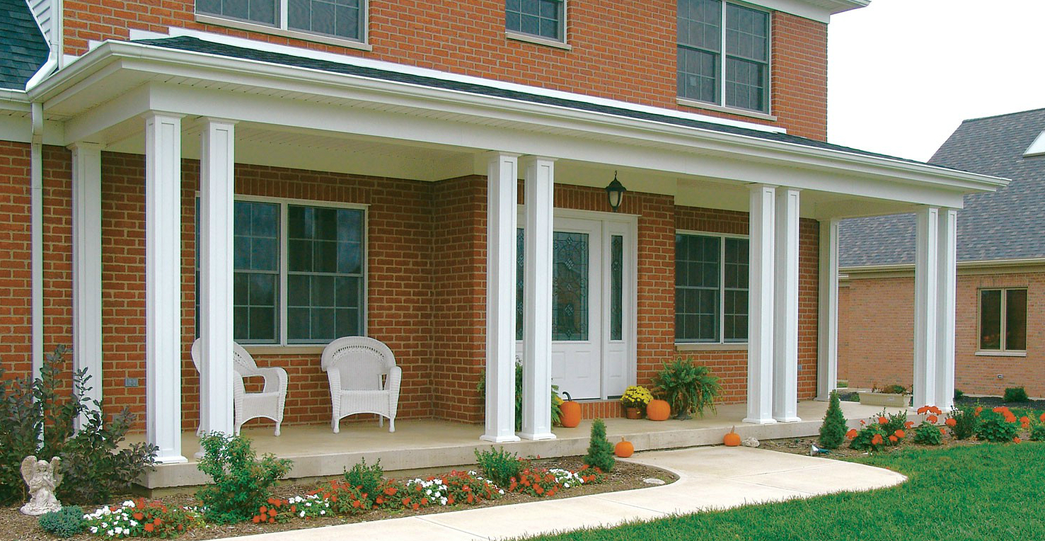 Install porch columns in mississauga replace railings in for Wrap around porch columns