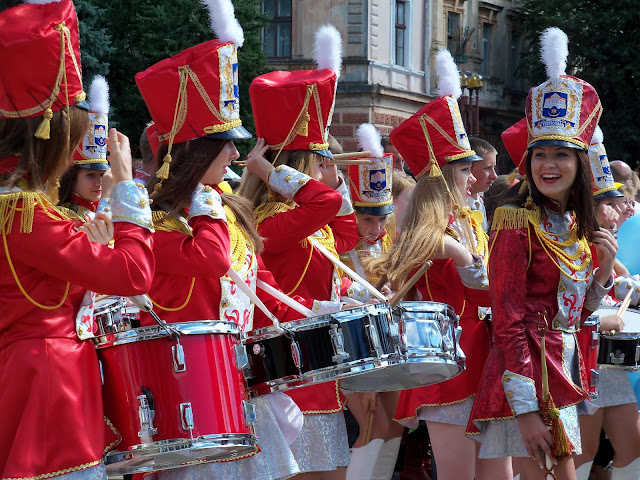 Beautiful girls drummers Ternopil Ukraine