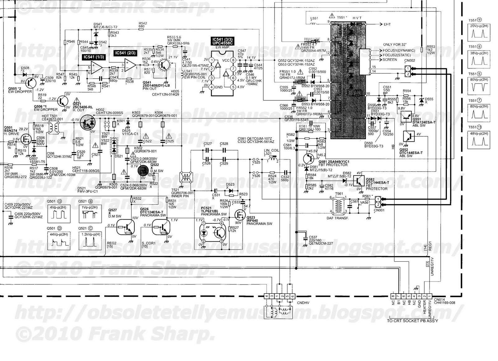 Obsolete Technology Tellye Jvc Av 32wp2en Chassis Mb Power And Panel Board Schematic Deflection Eht Smb 2001 U2