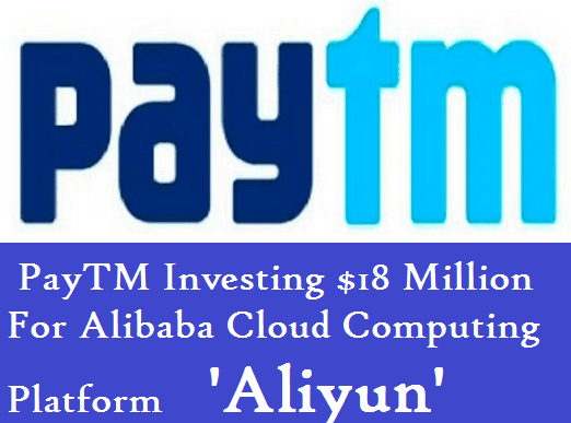 PayTM Investing  For Alibaba Cloud Computing Platform