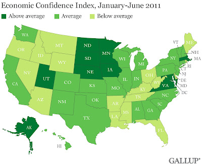 US public confidence, by state