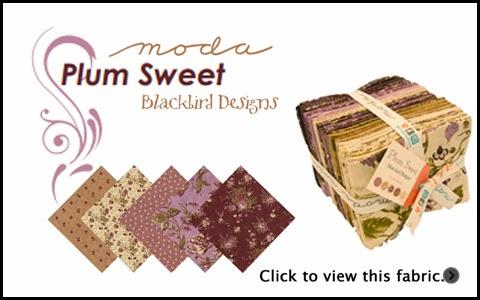 Moda PLUM SWEET Quilt Fabric by Blackbird Designs for Moda Fabrics