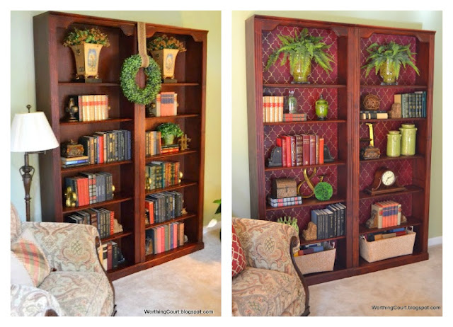 bookcase+before+and+after Traditional style home tour in Central NC!