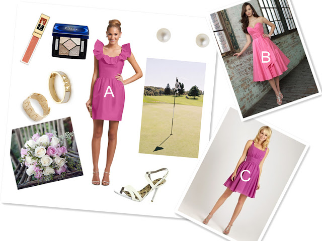 golf theme wedding bridesmaid match ideas