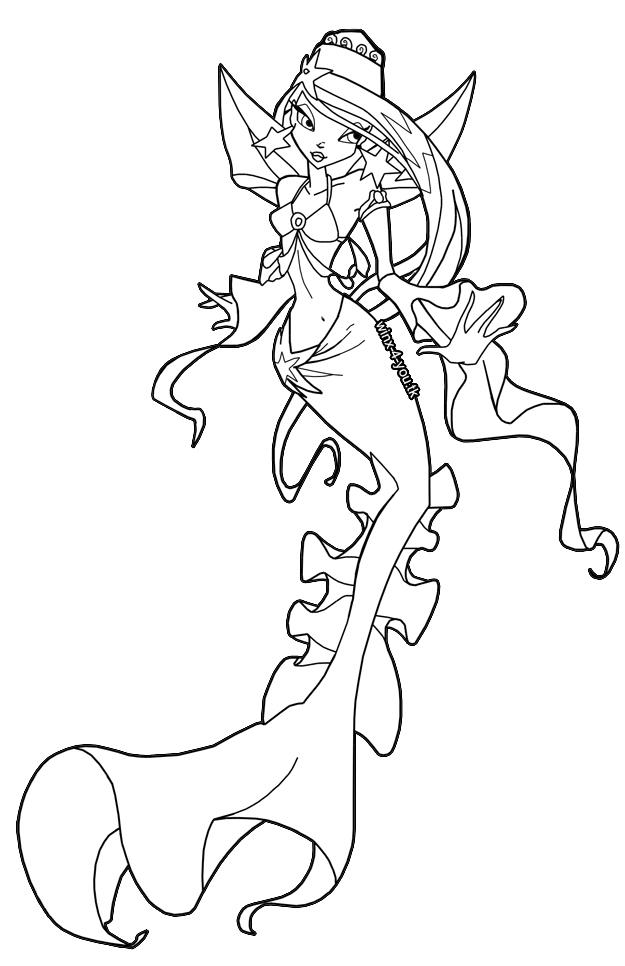 Winx Club All: Colorear: Sirenas de Andros