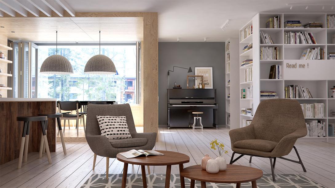 Salotto In Stile Moderno By Int2architecture Interior Design : Appartamento interior id by int architecture arc art