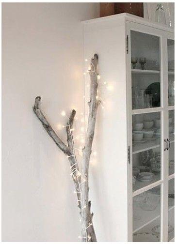 Ramas de Navidad con luces