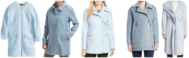 H&M Wool Blend Coat $50 (regular $80)  Jones New York Wool Blend Coat $90 (regular $120)   Guess Boucle Asymmetrical Zip Coat $140 (regular $240)  Vince Camuto Asymmetrical Pea Coat $150 (regular $300)  Vince Draped Wool Blend Coat $326 (regular $725)