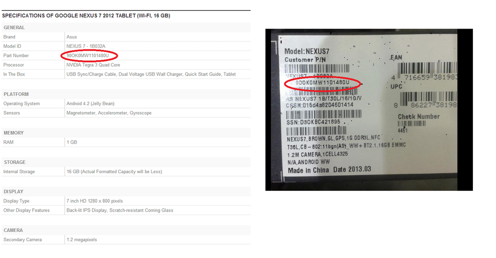 Cheated.... by Nestle and Google, ditches on the promise of first 1000 to get Nexus 2013 in India...gives Nexus 7 2012 1B032A