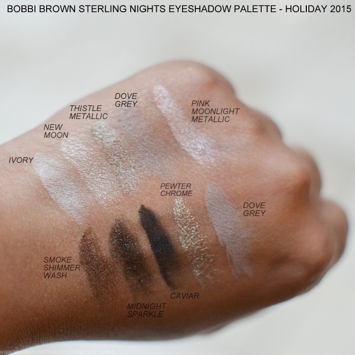 Bobbi Brown Sterling Nights Holiday 2015 Makeup Collection Photos Swatches Eyeshadow Palette