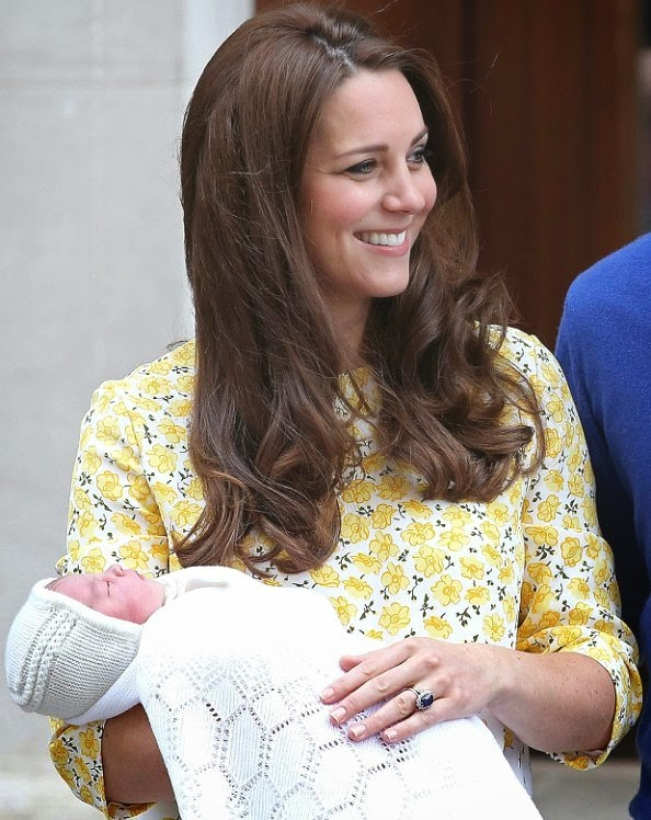 Catherine, Duchess Of Cambridge Has Left Hospital with Their New Baby Princess