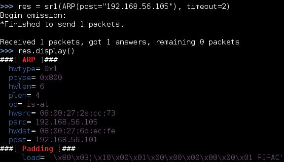تنفيذ ARP Discovery باستخدام Scapy