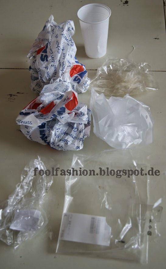 Plastikmüll einer Woche