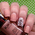Nail Art of the Day: Peach Flowers