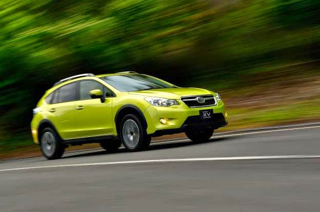 An all-new model for the 2013 model year, the 2015 Subaru XV Crosstrek and XV Crosstrek Hybrid crossovers gain new technology to keep them up to date, including a new standard infotainment system as well as Subaru's EyeSight active safety features as available equipment.  A new infotainment system is now standard on 2015 Subaru XV Crosstrek 2.0i, 2.0i Premium, and Hybrid models. The new infotainment system features a 6.2-inch touchscreen and rearview camera as well as Subaru STARLINK smartphone integration with Aha Infotainment, Pandora, and iHeart Radio. The 2.0i features a four-speaker audio system, while Premium trims get a six-speaker audio system.  XV Crosstrek 2.0i Premium with EyeSight, 2.0i Limited, and Hybrid Touring models get a new 7.0-inch multi-touch gesture infotainment system with SiriusXM Satellite Radio, voice-activated controls, a pair of USB ports, six-speaker stereo, and a new color LCD screen in the gauge cluster. XV Crosstrek Limited with EyeSight and XV Crosstrek Hybrid Touring are available with a navigation infotainment system with SiriusXM NavTraffic and NavWeather features.  Subaru's EyeSight driver assist technology is now available on the 2015 XV Crosstrek. Models equipped with EyeSight also get standard Steering Responsive fog lights.  Non-hybrid models are powered by a 148-hp 2.0-liter Boxer four-cylinder engine mated to a five-speed manual or CVT. Hybrid models add a 13.4-hp permanent-magnet AC synchronous electric drive motor integrated into the CVT for 160 hp combined output. A 13.5kW nickel-metal hydride battery supplies juice to the electric motor. All models feature the automaker's symmetrical all-wheel drive system standard.  Pricing for the 2015 Subaru XV Crosstrek hasn't been announced but should be revealed before it arrives at dealers in December.