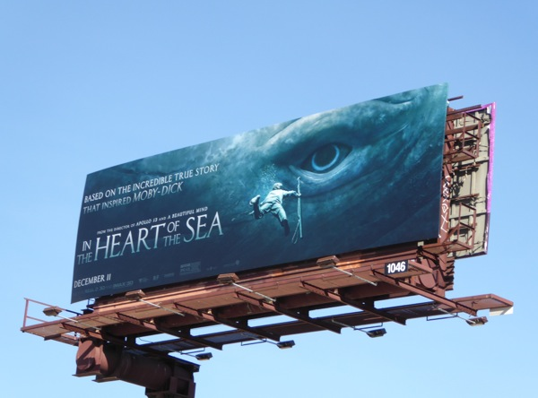 In the Heart of the Sea movie billboard