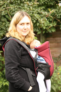 Looking relaxed with the Comfy Babies baby carrier