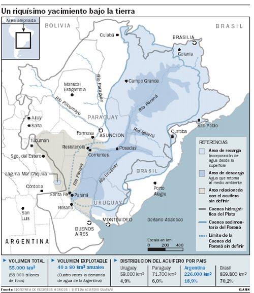 infografia mapa acuifero guarani