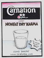 Carnation Instant Nonfat Dry Karma Comic