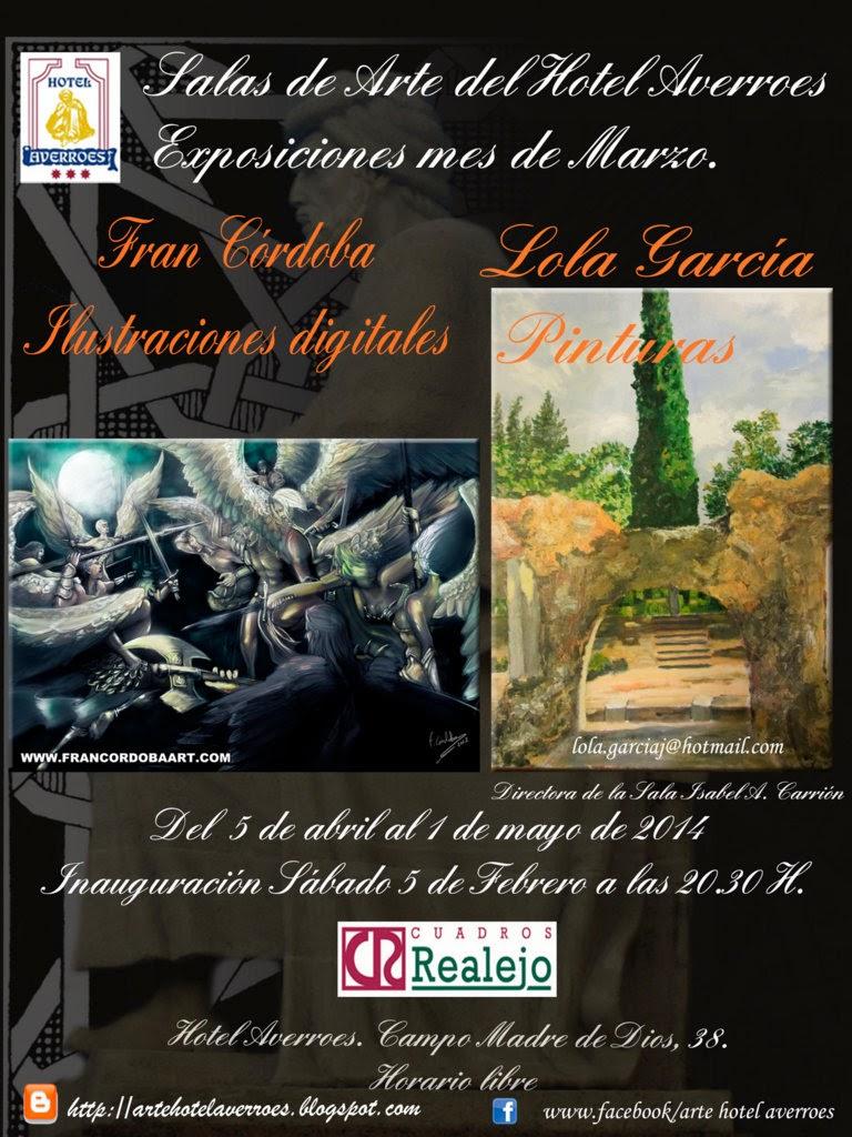 Abril: Fran Córdoba y sus ilustraciones digutales y pinturas de Lola Garcia.