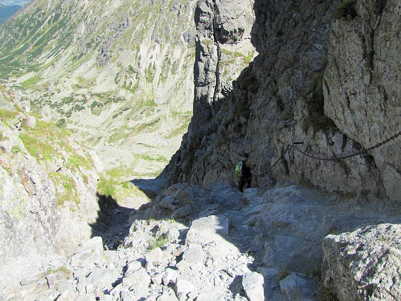 Północna ściana Wielkiej Orlej Turniczki.