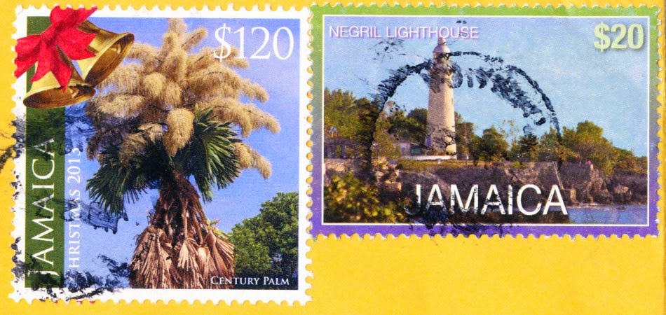 stamps, jamaica, century palm, negril lighthouse