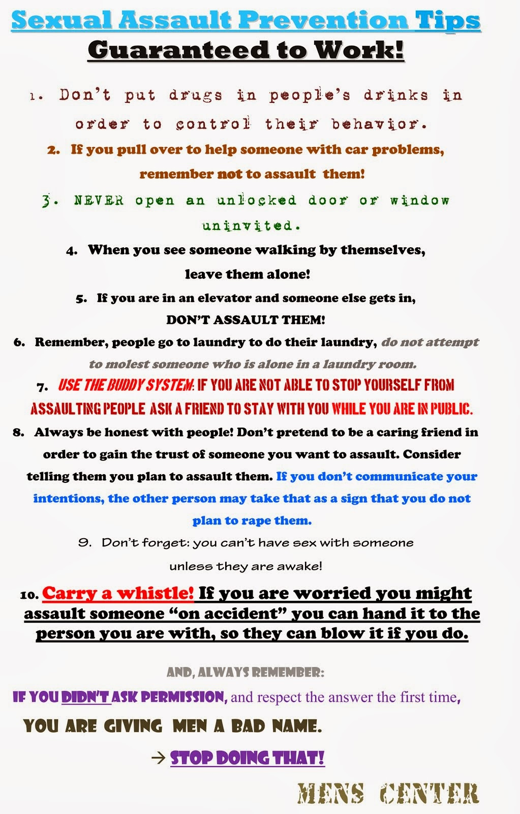 Sexual Assault Prevention Tips